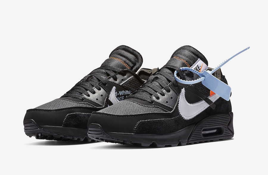 Off White x Nike Air Max 90 Black