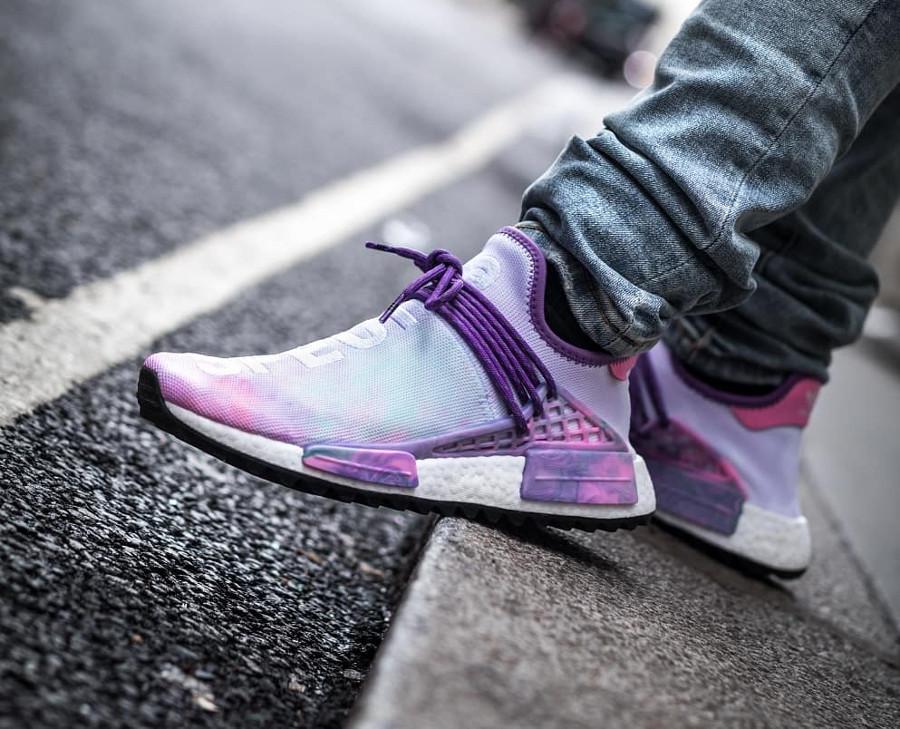 Pharrell Williams x Adidas NMD Hu Trail Holi Pink Glow Flash Purple