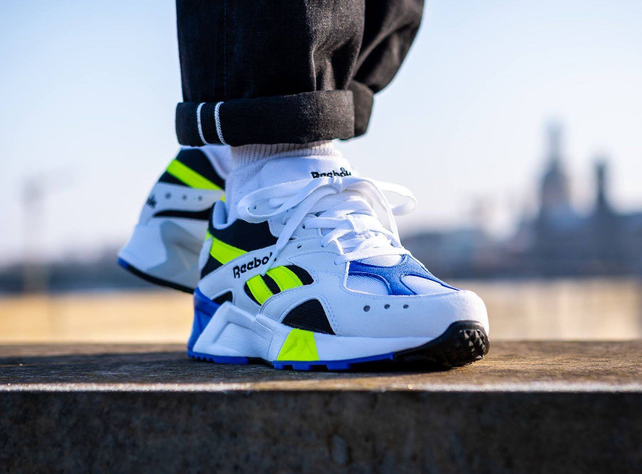 Reebok Aztrek OG White Black Cobalt Yellow