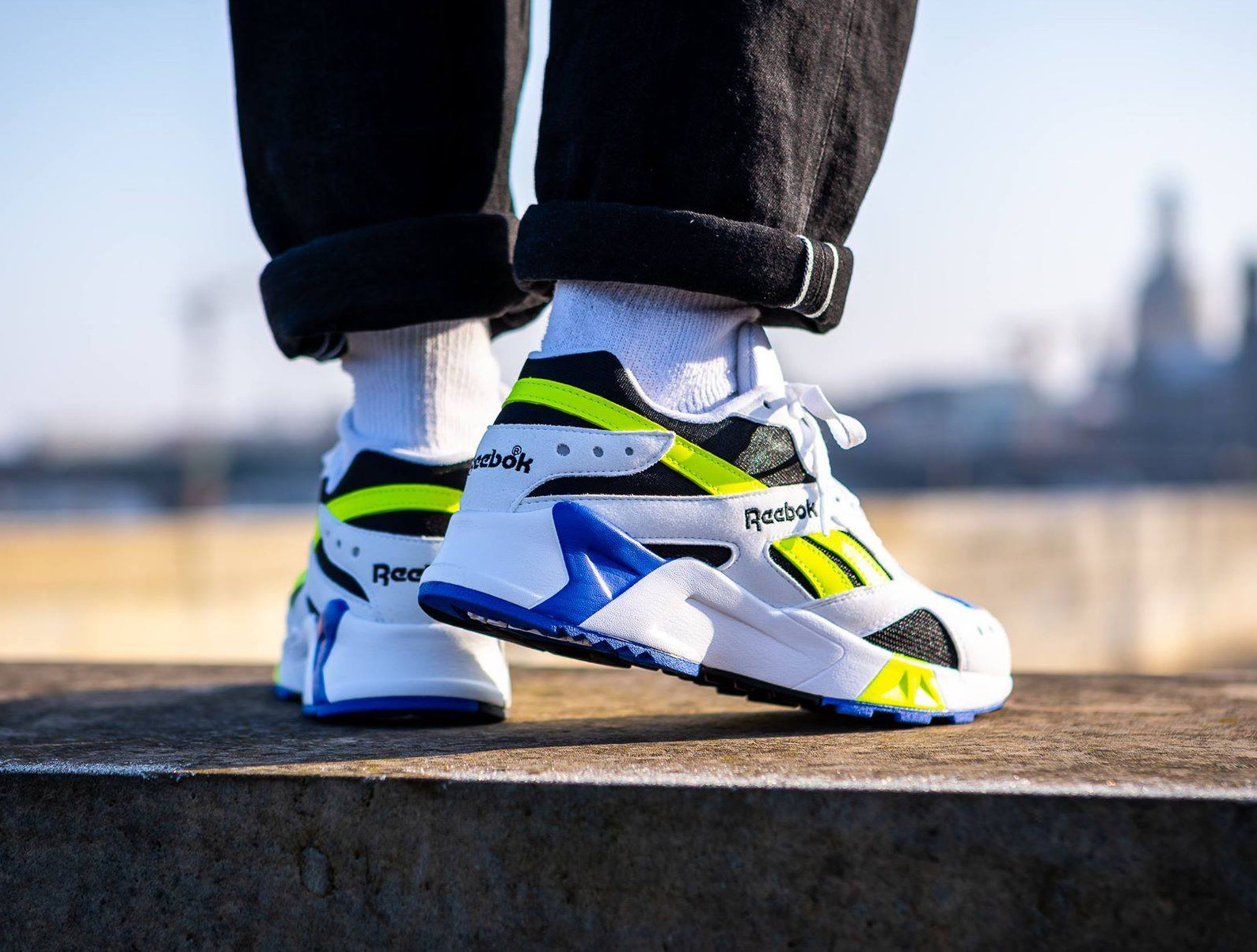 Reebok Aztrek OG White Black Cobalt Yellow (1)