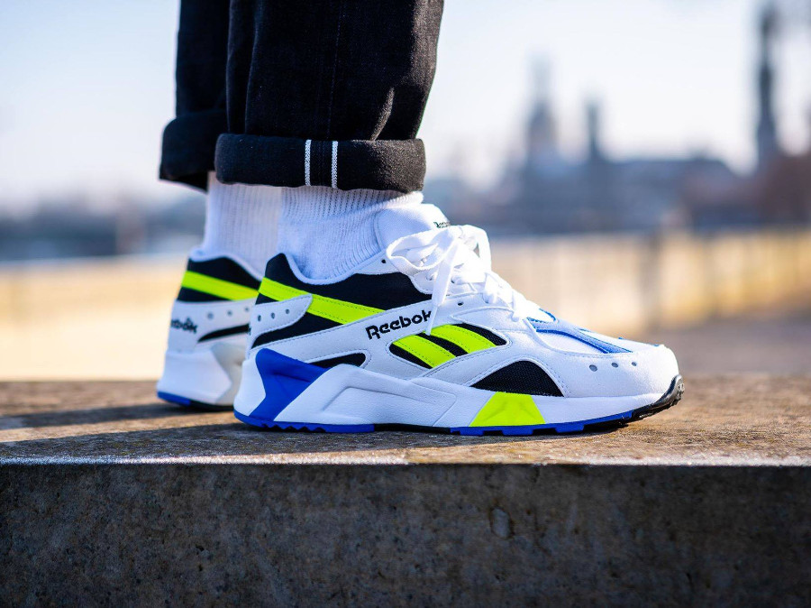 Reebok Aztrek OG White Black Cobalt Yellow (2)