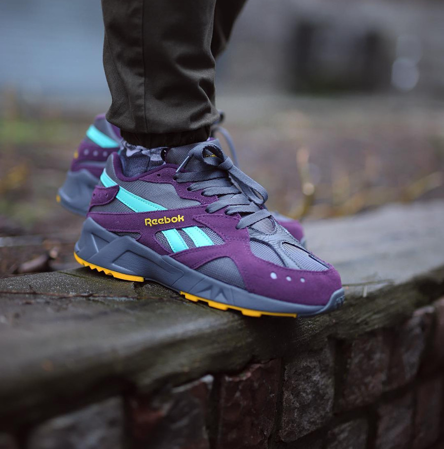 Reebok Aztrek 'Outdoor Pack' Urban Violet Grey Teal Yellow