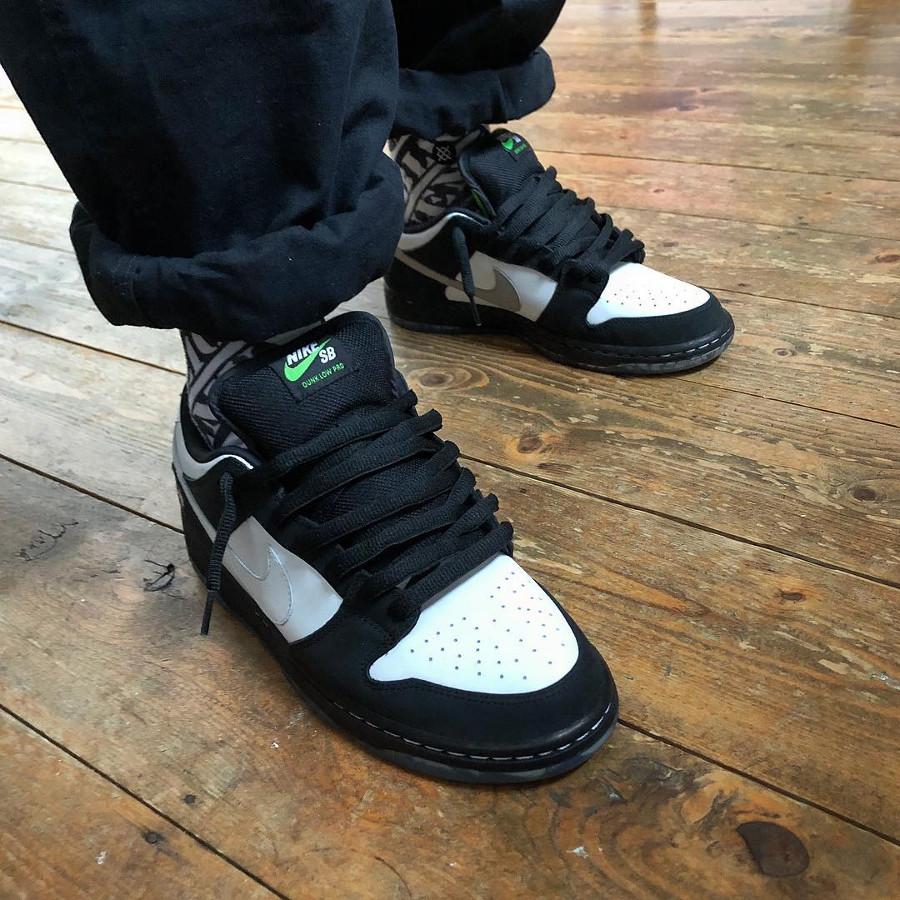 Staple x Nike SB Dunk Pro Low OG QS Panda Pigeon on feet