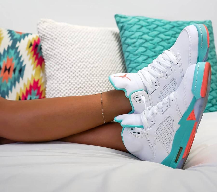 Air Jordan 5 Retro Womens Light Aqua