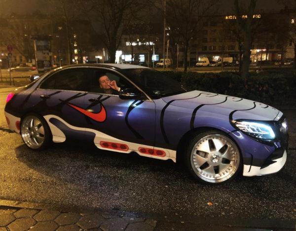 voiture personnalisée Air Max Plus og Voltage Purple bonez187erz