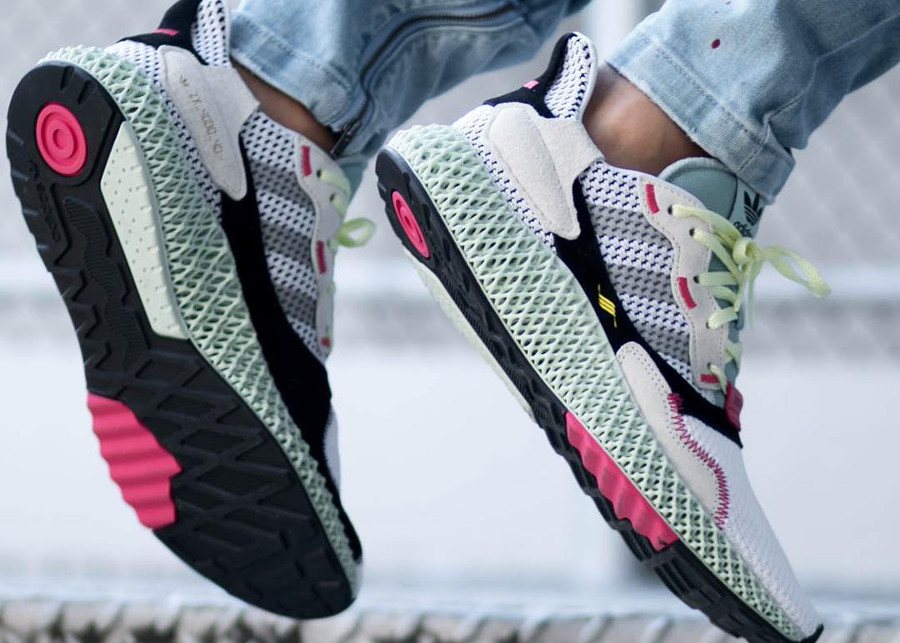 Adidas ZX 4000 4D 'White Grey Linen Green'