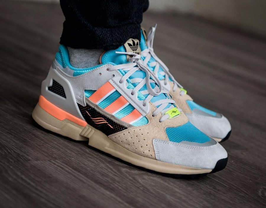 Adidas Consortium ZX 10000 C Blue Coral Orange