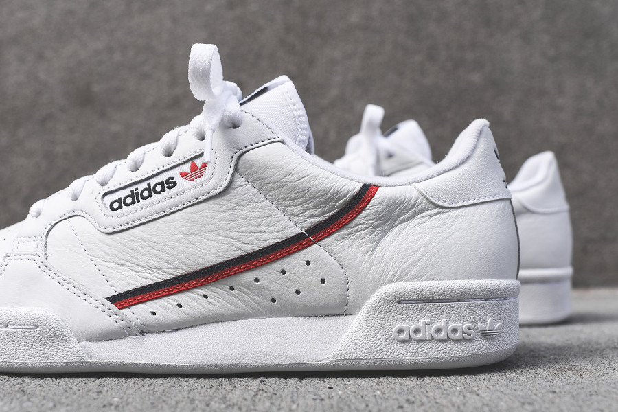 Adidas Continental 80 Rascal White Scarlet Collegiate Navy (3)