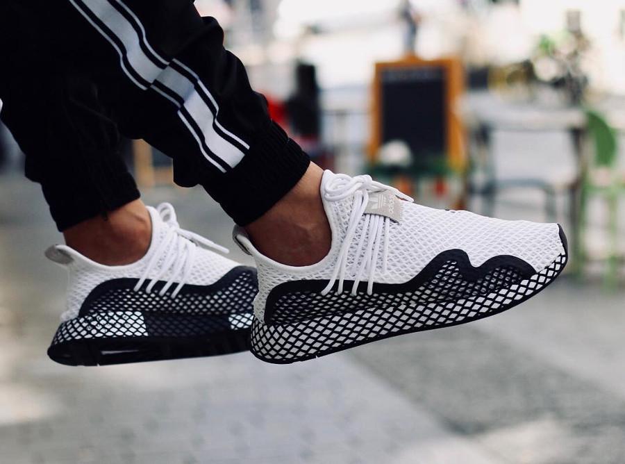 Adidas Deerupt S blanche et noire (5)