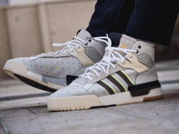 Adidas Rivalry blanche et couleur crème (2)