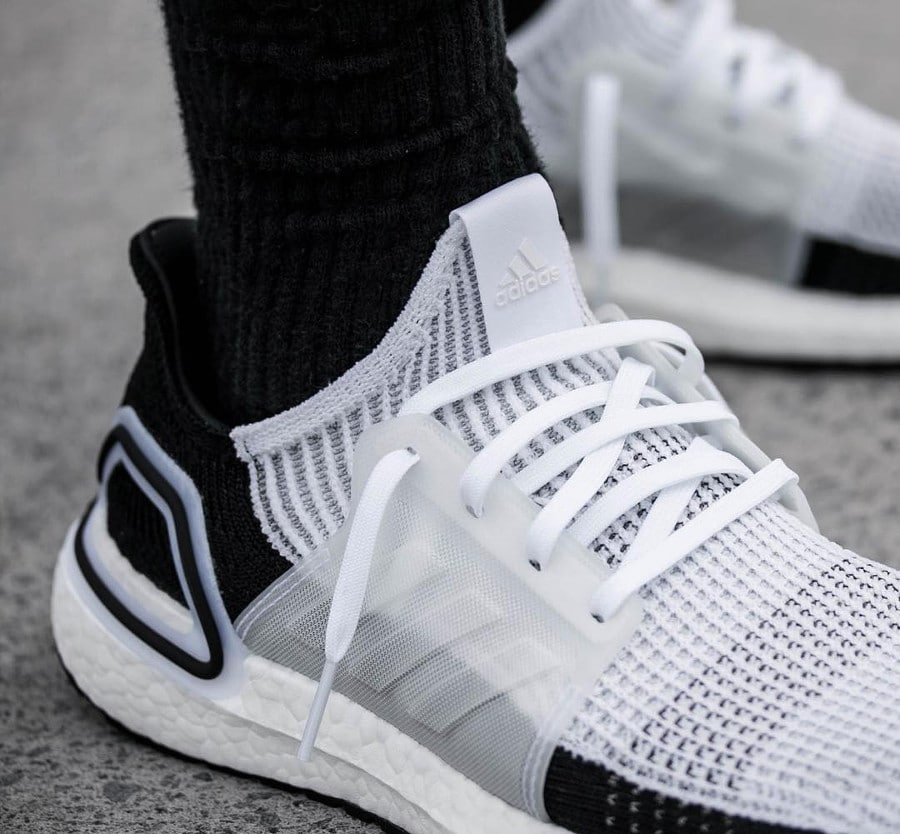 Adidas UltraBoost 19 Panda Ftwr White Grey Two (1)