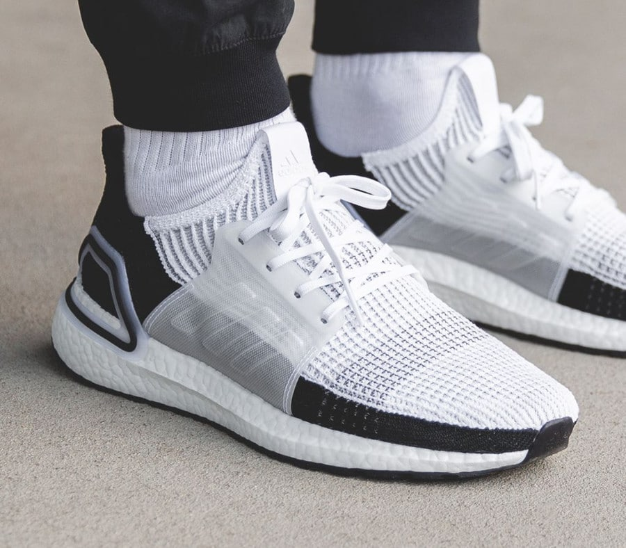 Adidas UltraBoost 19 Panda Ftwr White Grey Two (3)