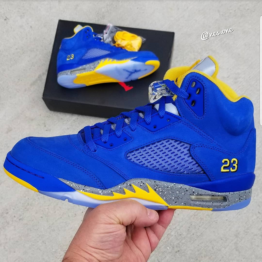 Air Jordan 5 Laney 2019 ASG Varsity Royal Varsity Maize (1)