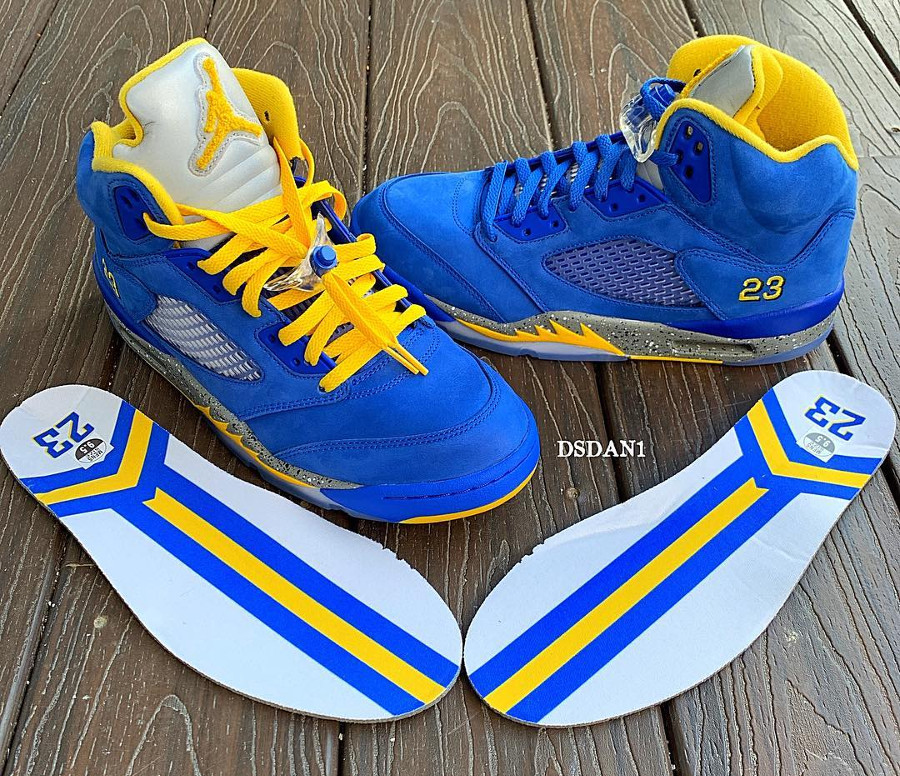Air Jordan 5 Laney 2019 ASG Varsity Royal Varsity Maize (2)