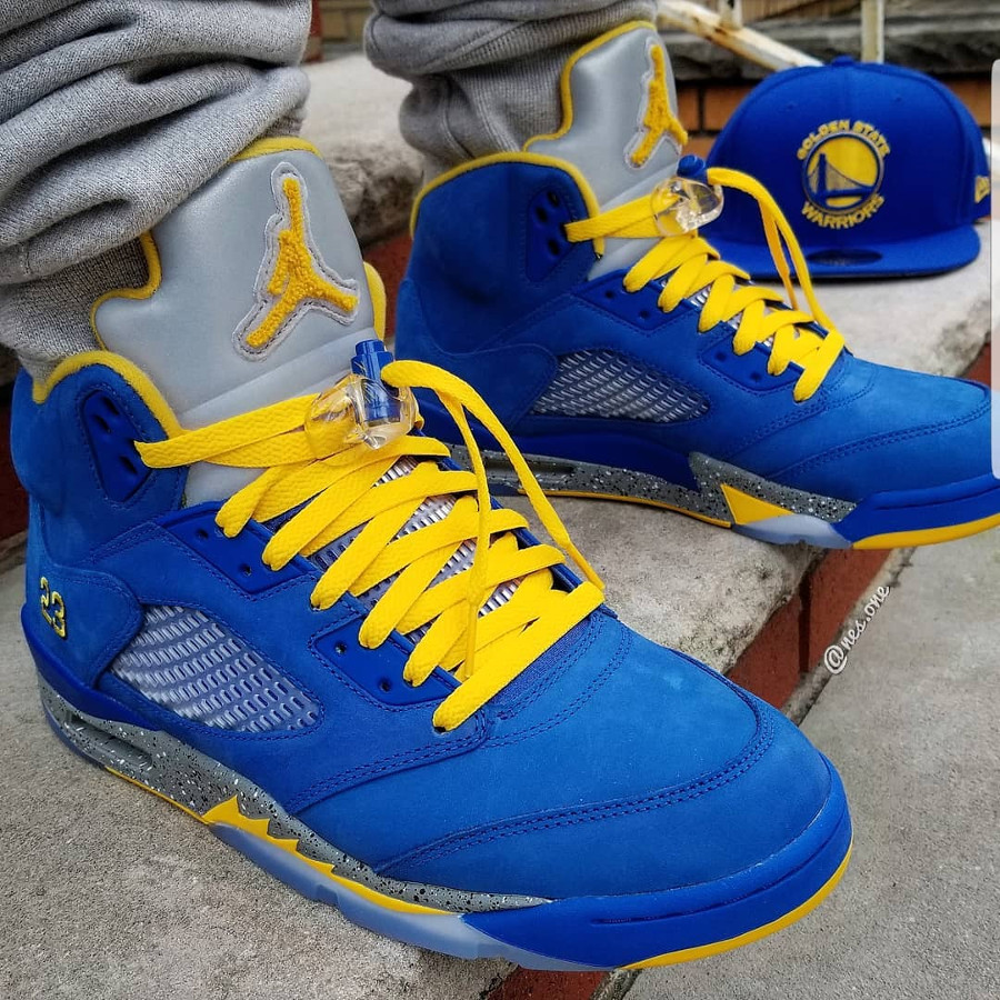 Air Jordan 5 Laney 2019 ASG Varsity Royal Varsity Maize (5)
