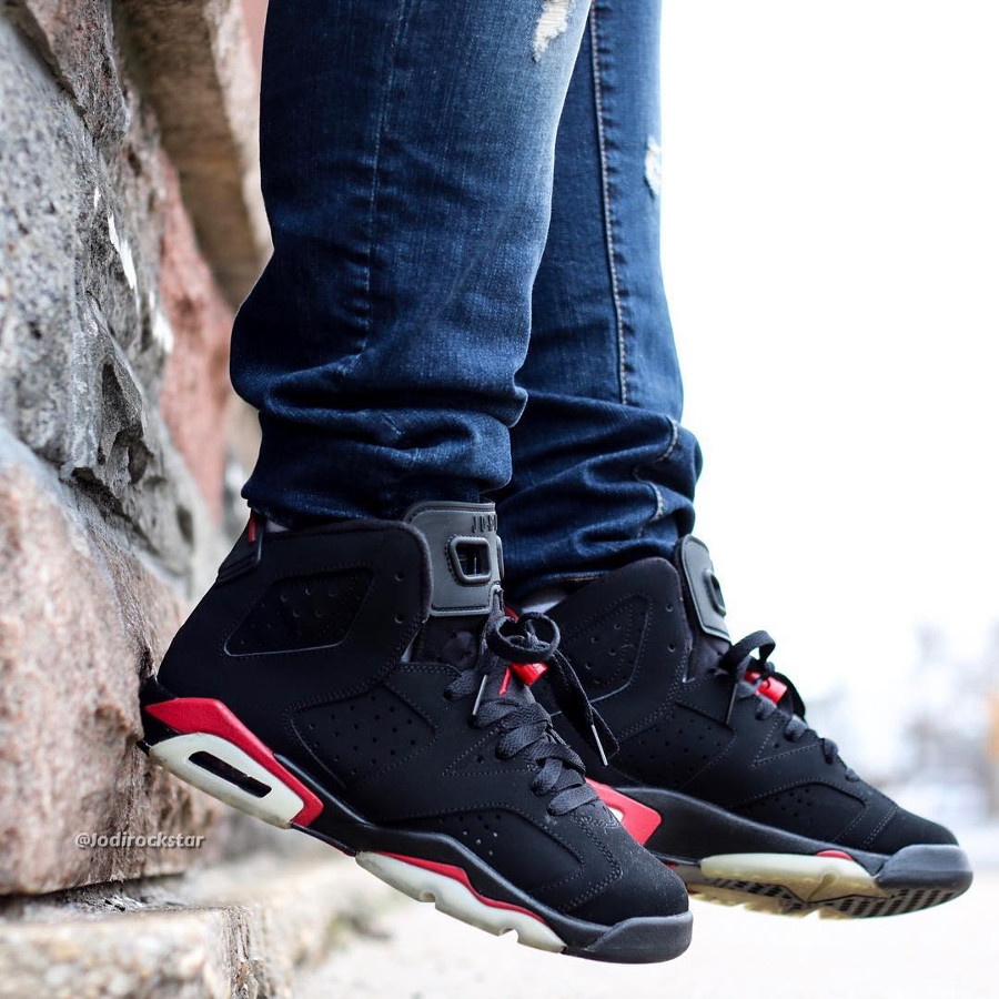 Air Jordan 6 Retro Black Varsity Red 2010 - @jodirockstar