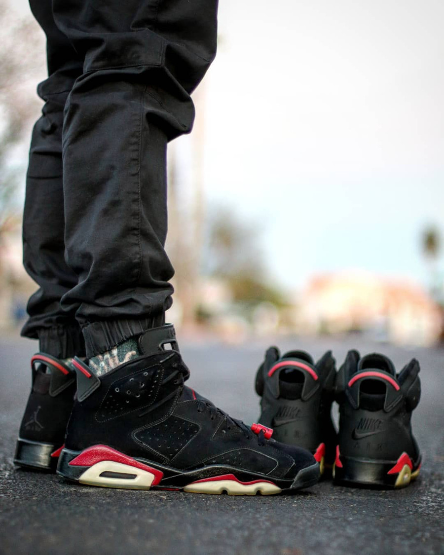 Air Jordan 6 Retro Black Varsity Red 2010 - @thecarolinaboy