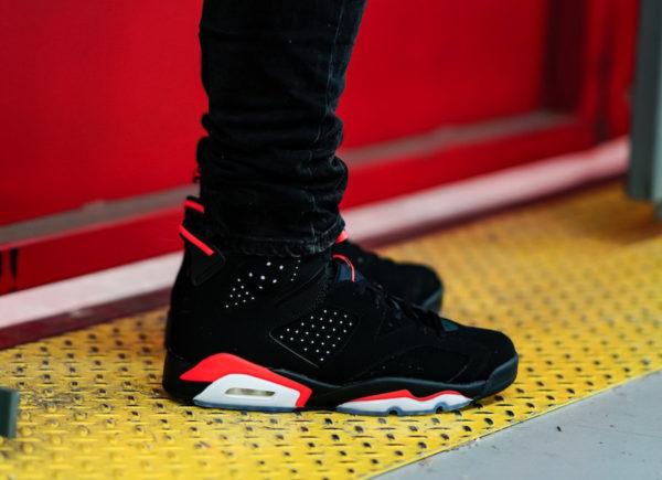 Air Jordan VI Black Infrared Retro 2019 on feet (6)
