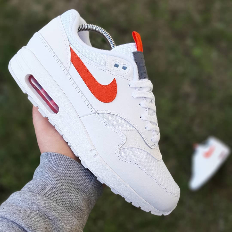 Air Max 87 Special Edition blanche et orange (2)