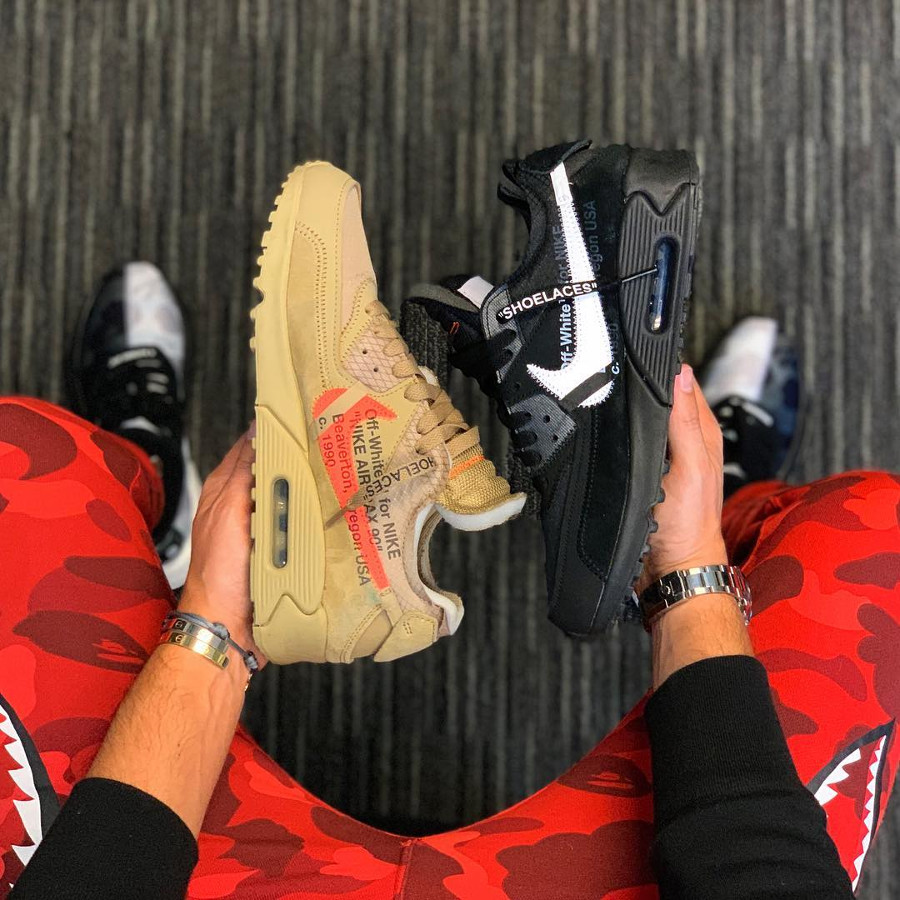 Air Max 90 Off White 2019 Black Cone Desert Ore (1)
