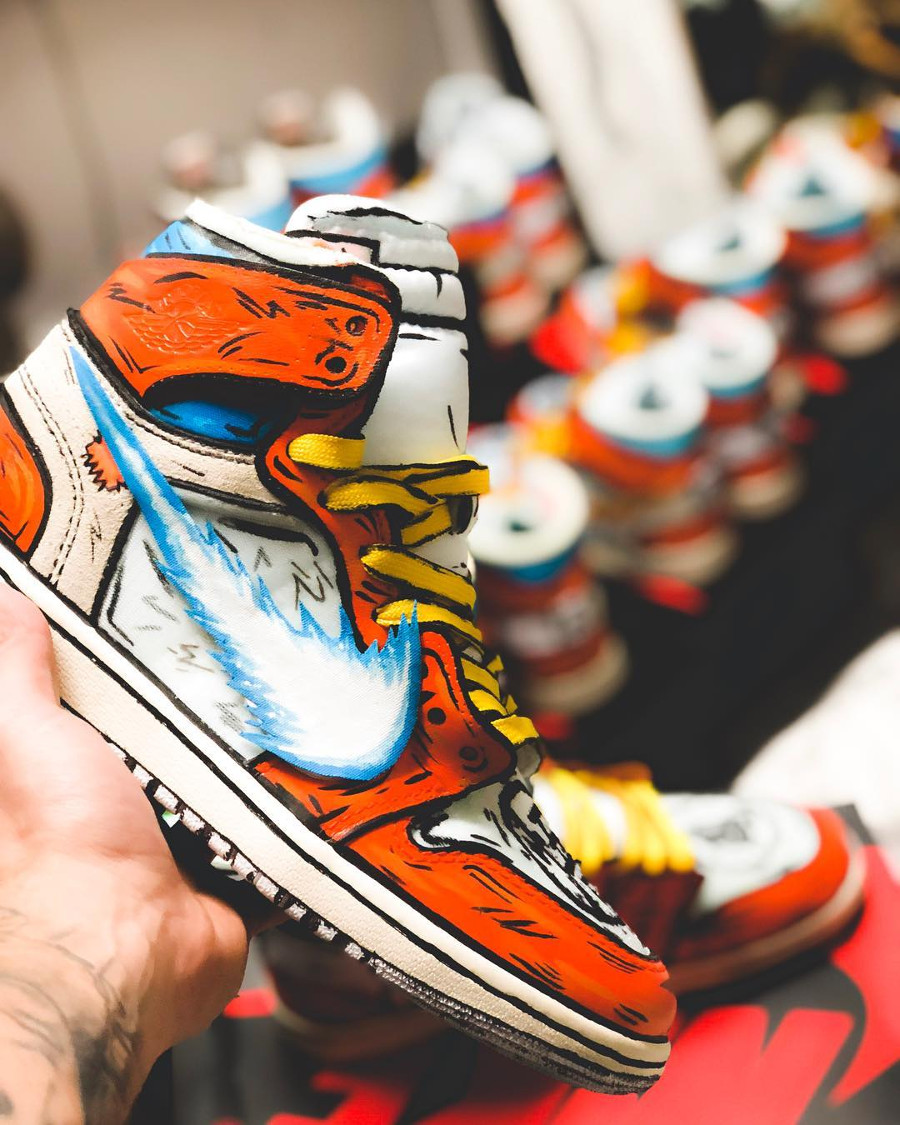 Dragon Ball Z x Air Jordan 1 Off White 'Goku' (2)