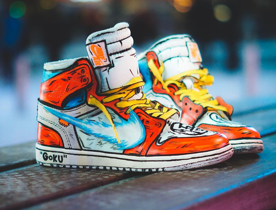 Dragon Ball Z x Air Jordan 1 Off White 'Goku'