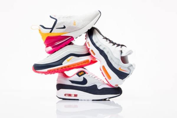 free shipping 90ce5 92d4b Le pack Nike Wmns Air Max Midnight Navy Laser Fuchsia Orange