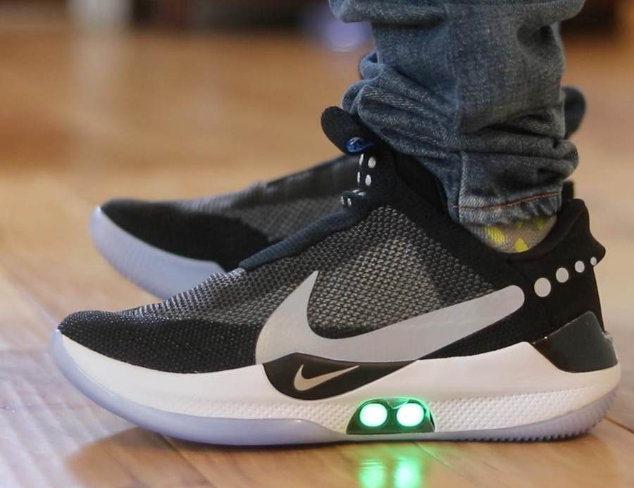 Nike Adapt BB Black Photo Blue Reflective Silver (3)