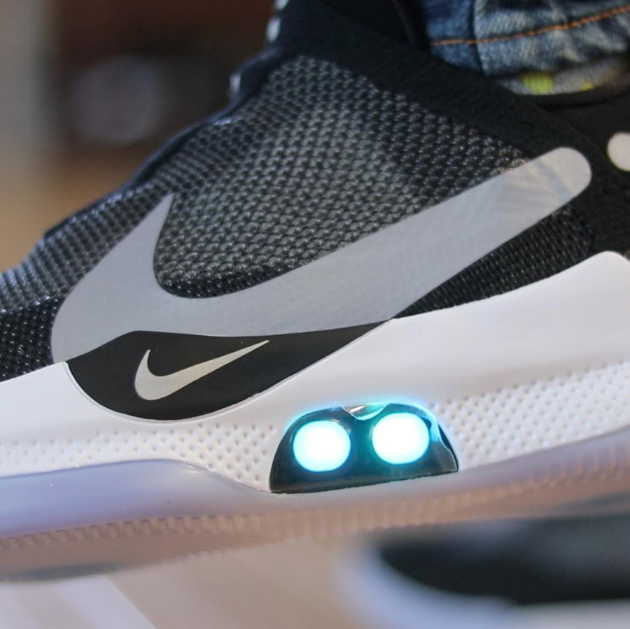 Nike Adapt BB Black Photo Blue Reflective Silver (4)