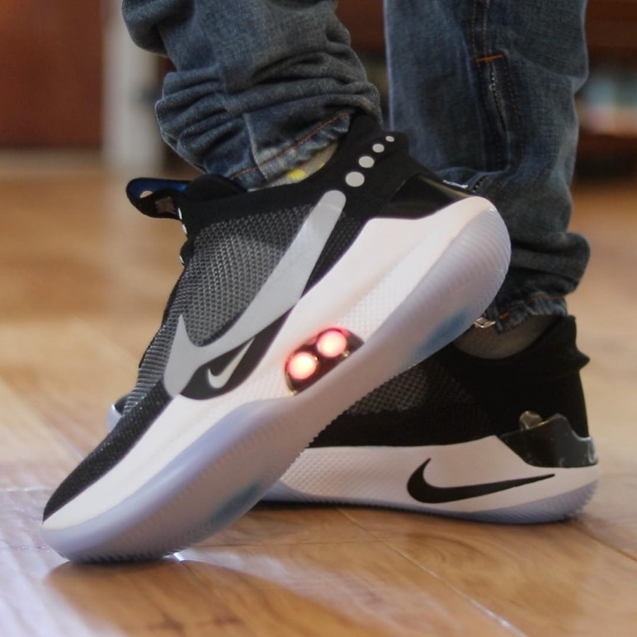 Nike Adapt BB Black Photo Blue Reflective Silver (5)