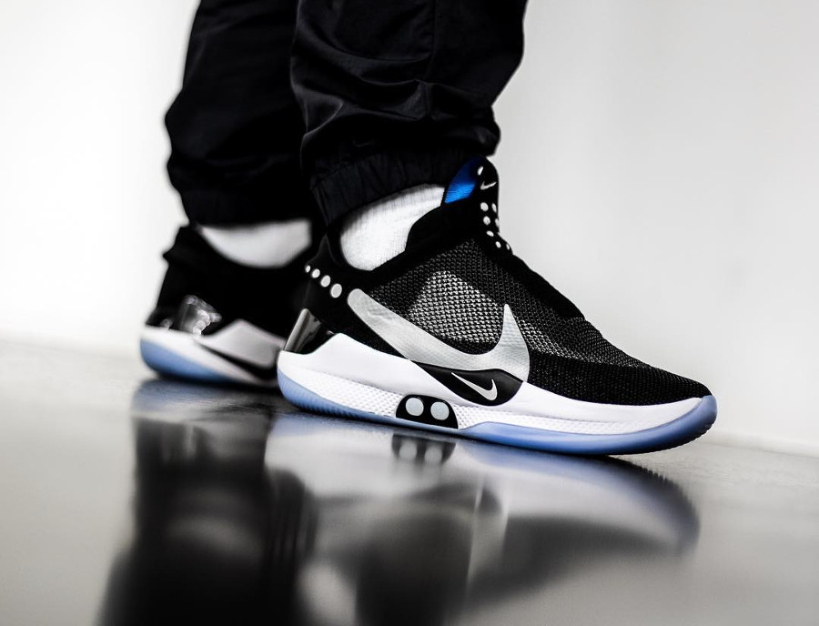 Nike Adapt BB Black Photo Blue Reflective Silver
