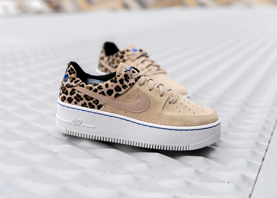 Nike Air Force 1 Sage Low Premium Desert Ore Racer Blue (BV1979-200) (1)