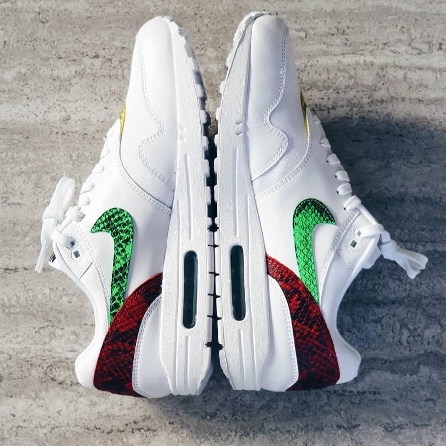 Nike Air Max 1 Premium White Electro Green Opti Yellow Psychic Pink (2-1)