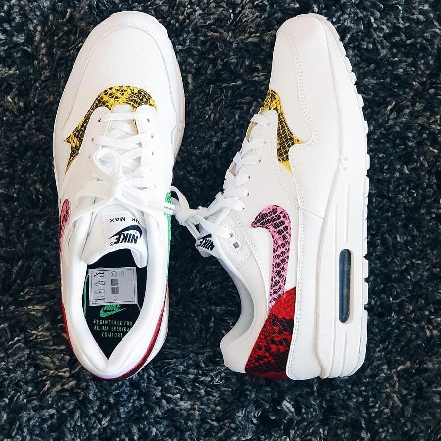 Nike Air Max 1 Premium White Electro Green Opti Yellow Psychic Pink (2)