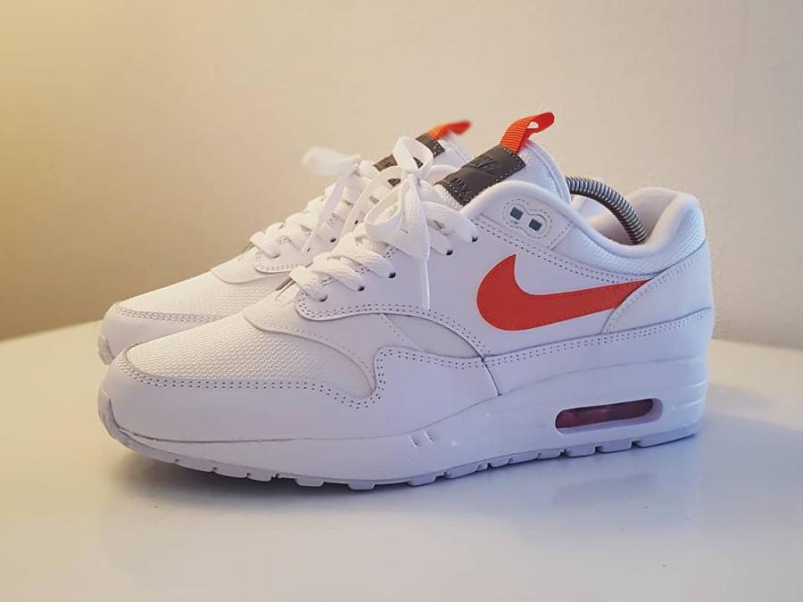 Nike Air Max 1 SE Pull Tab White Team Orange