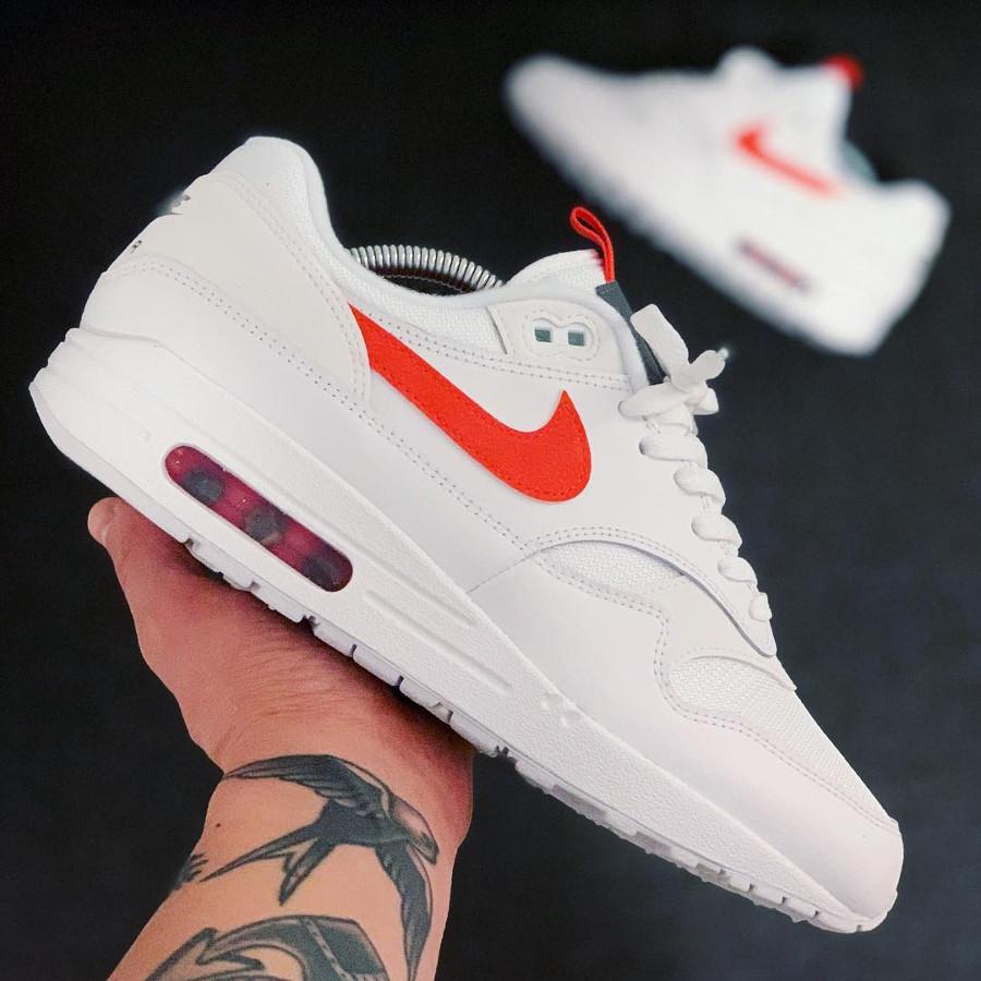 Nike Air Max 1 SE White Team Orange