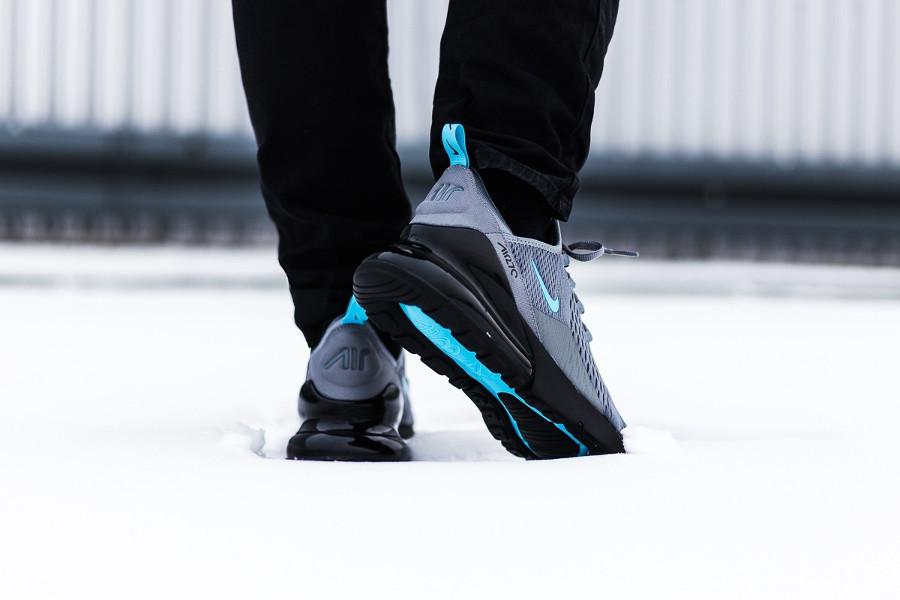 Nike Air Max 270 gris foncé et bleu glacier (5)