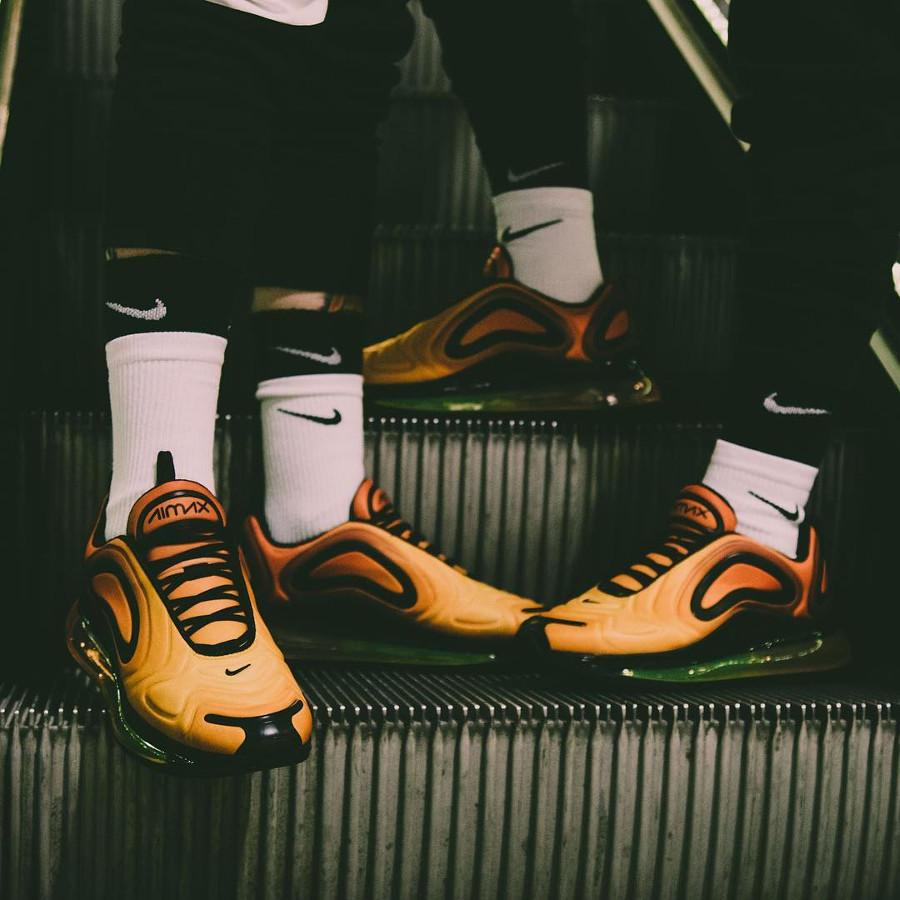 Nike Air Max 720 coucher de soleil jaune et orange (4)