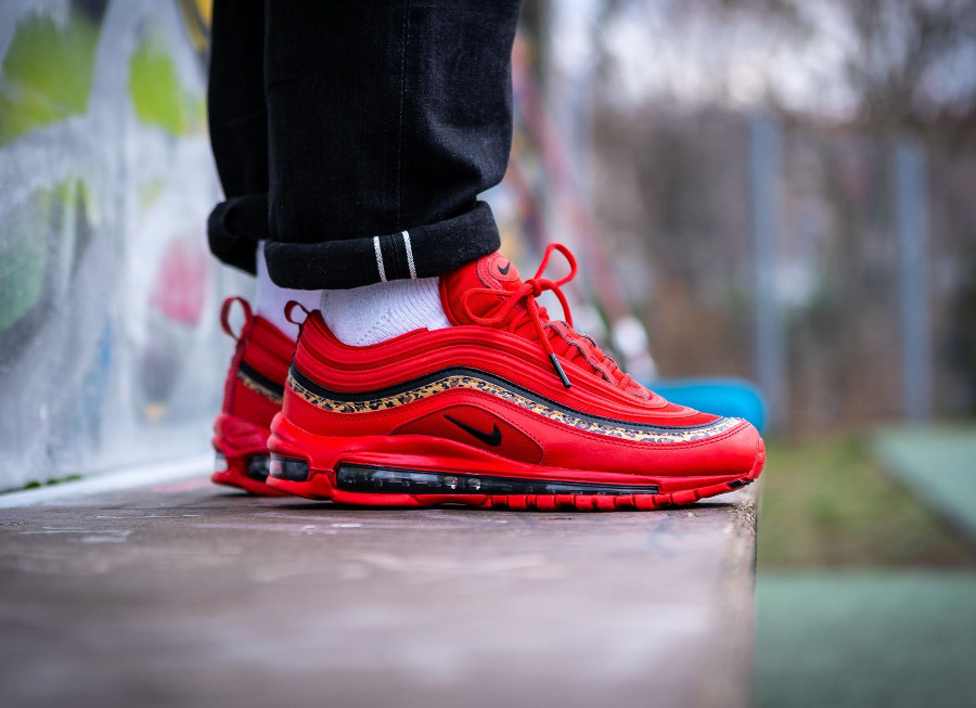 Nike Wmns Air Max 97 'Leopard' University Red Black