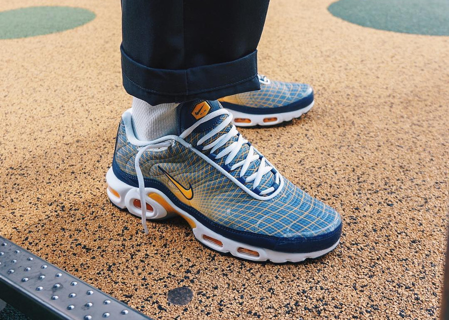 Nike Air Max Plus OG Grid 'Quads' Steel Spun Yellow