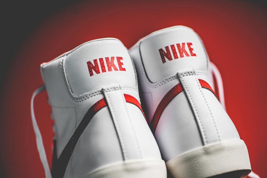 Nike Blazer vintage mi-montante blanche et rouge (3)