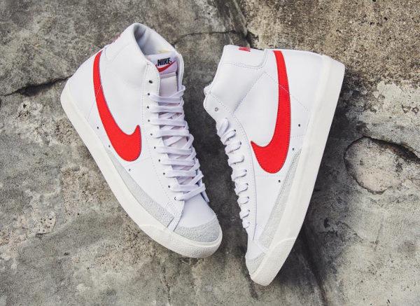 Nike Blazer vintage mi-montante blanche et rouge