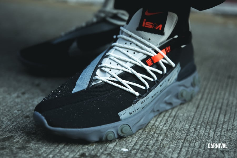 Nike Ispa React WR Black Metallic Silver (AR8555-001)