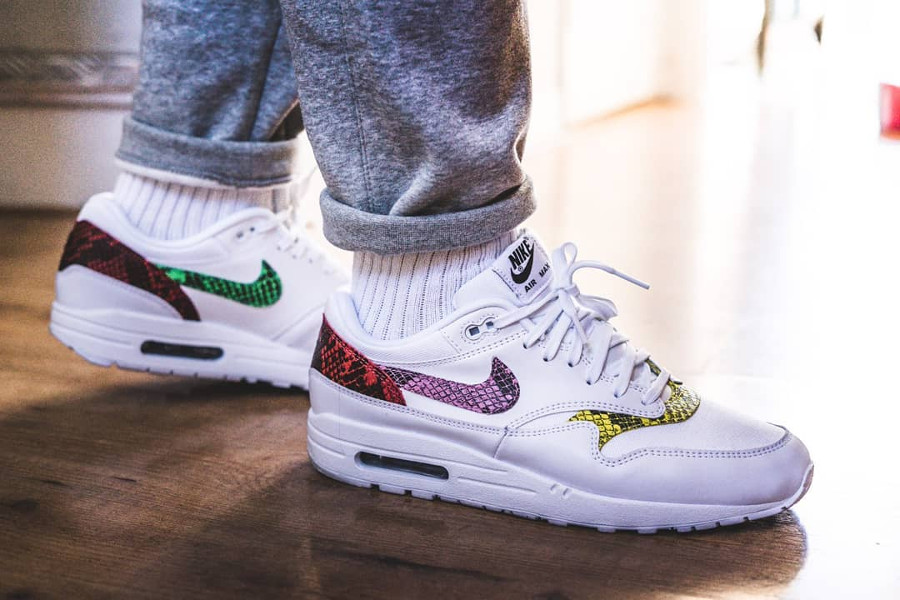 Nike Wmns Air Max 1 Premium Animal Snake 'White Multicolor'