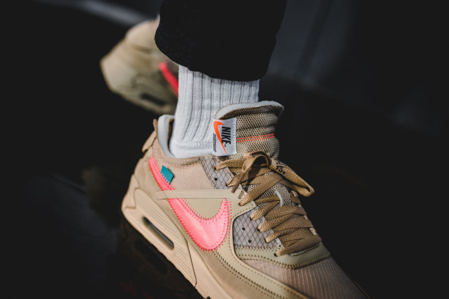 Off White x Air Max 90 Beige Desert Ore (1)