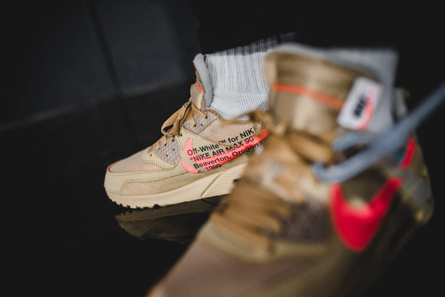 Off White x Air Max 90 Beige Desert Ore (2)