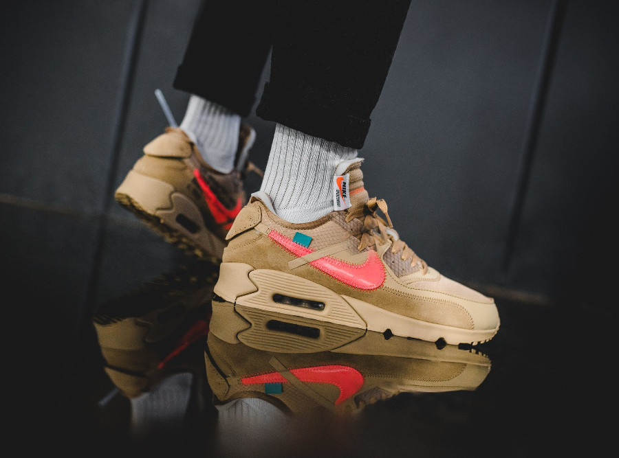 Off White x Air Max 90 Beige Desert Ore (3)