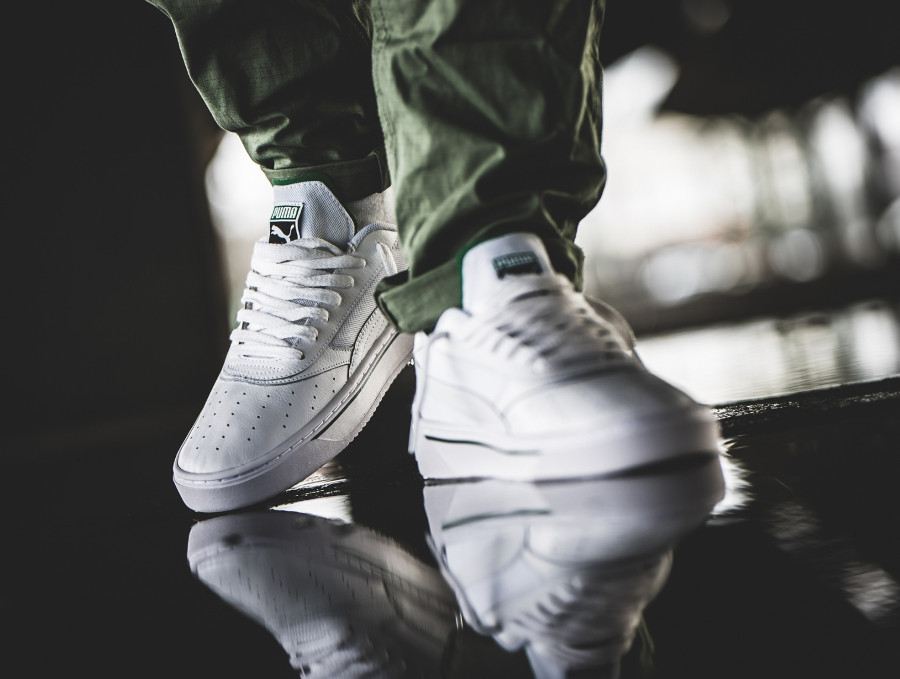 Puma California 2019 blanche et verte (2)