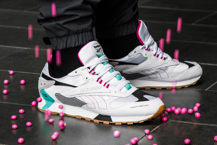 Reebok Classic Leather ATI 90s Aztrek White Teal Pink