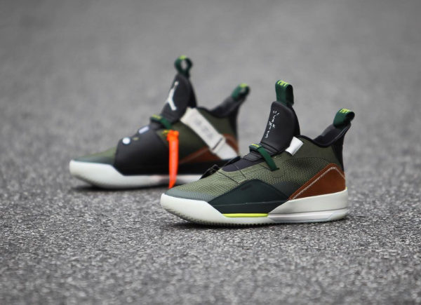 Travis Scott x Air Jordan XXXIII Olive Black Ale Brown (2)